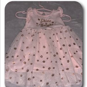 Pink & Gold Dress for baby girls